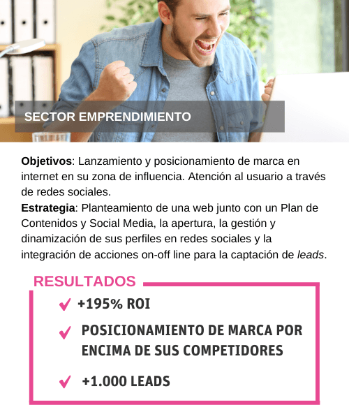 Casos de Éxito: Emprendimiento marketing internet